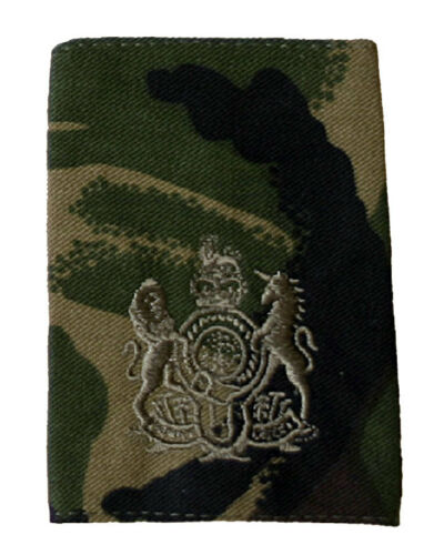 Paar Offiziell Woodland Dpm Britisch Militär Rang Schulterstücke Alle Ränge NSN