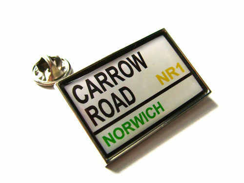 NORWICH STADIUM ROAD STREET SIGN LAPEL PIN BADGE GIFT