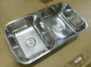 NEW - Mercer Hume 780mm Double Bowl Sink HE500 | eBay