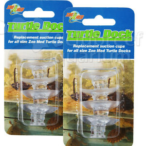 Zoo Med Turtle Dock 8 Suction Cups Tds 4 Ramp Cup 2 Packs
