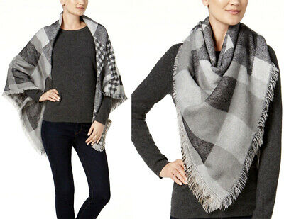 Steve Madden Women/'s Plaid Variety Square Blanket Wrap Scarf