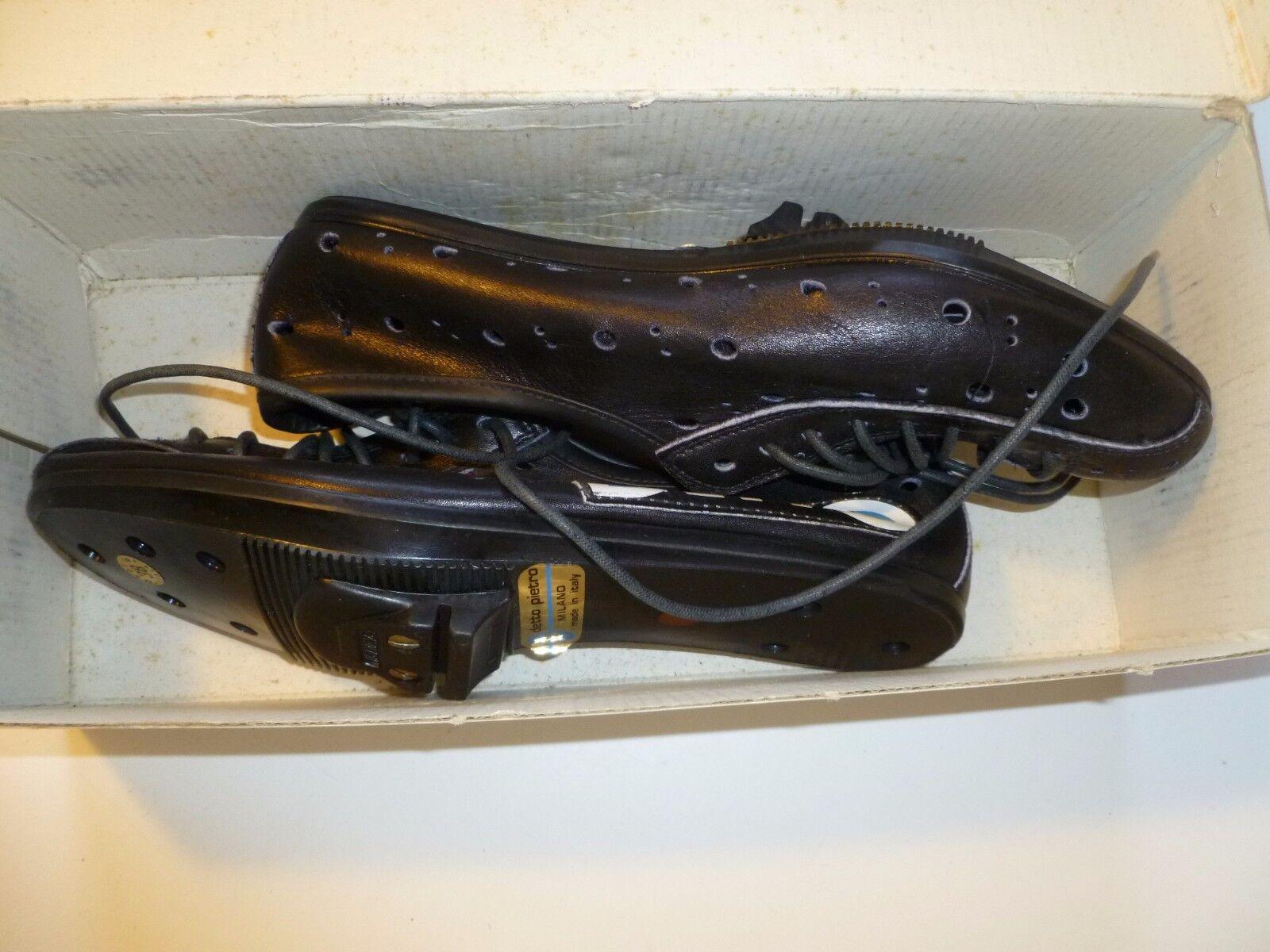 Detto Pietro Art. 74 Leather Cycling shoes - EU sz. 38 Vtg 80's NOS NIB Pavarin