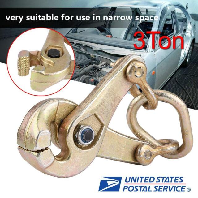 Ejoyous Self-Tightening Clamp 3 Ton Self-Tightening Scissor Clamp Serrated Jaws Pulling Clamp Auto Body Repair Pull Clamp for Automotive Car Vehicle Body Repair