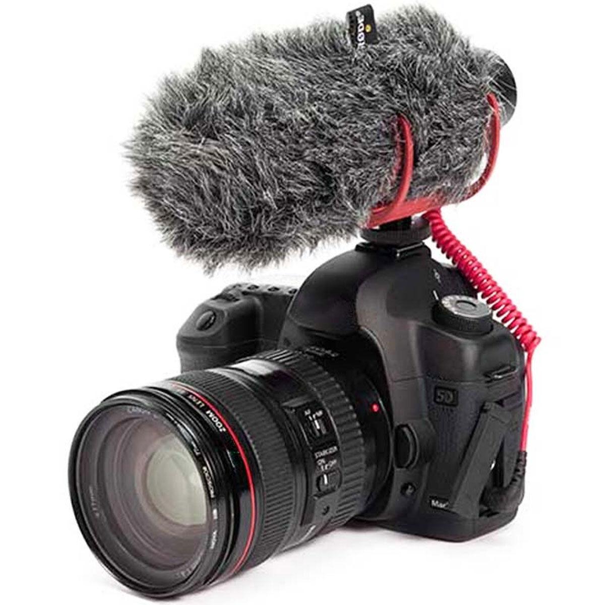 New Rode VideoMic GO hot Shoe On-Camera Shotgun Microphone + Rode VM GO Dead Cat 2