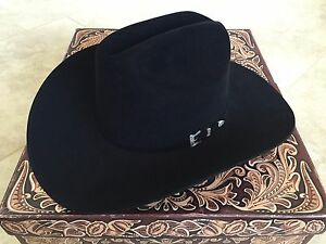 NEW Resistol 20X Black Gold 6 3 4 Cattleman Beaver Felt Cowboy Hat 4 ... 4d109b8343d2