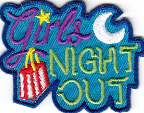 """/""""GIRLS NIGHT OUT/"""" GIRLY FASHION FUN Iron On Embroidered Patch PARTY"""