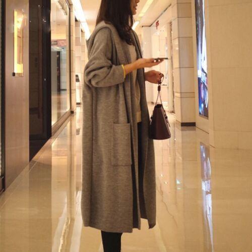 Plus Size Women Hoodie Sweater Long Cardigan Loose Knitted Coat Oversize Outwear