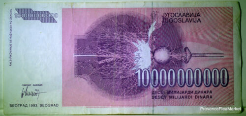 Yugoslavia 10 Billion of Dinara Type Nicola Tesla Pick 127 Uncirculated Used