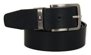 Cintura-uomo-pelle-belt-TOMMY-HILFIGER-art-AM0AM01303-taglia-115-col-902-NERO