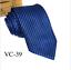Classic-Red-Black-Blue-Mens-Tie-Paisley-Stripe-Silk-Necktie-Set-Wedding-Jacquard thumbnail 49