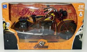 Nuevo-Ray-42113-Modelo-Diecast-Jefe-Indio-Moto-Marron-Amarillo-1-12th-Escala