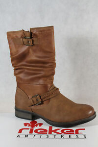 check out 2bd34 716e3 Details about Rieker Boots Ankle Boot Boots Winter Boots 98860 Brown New