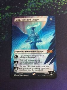 the Spirit Dragon Full Art Ugin MTG Core Set 2021 Mythic Rare Planeswalker NM