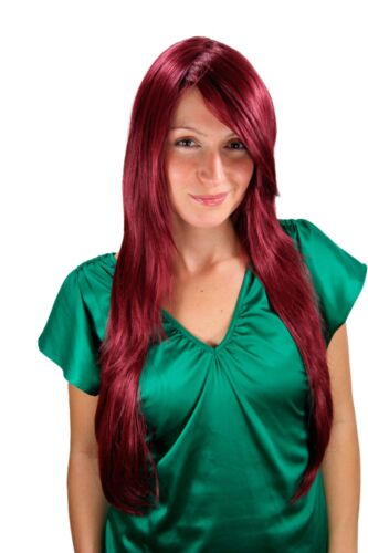 Ladies' Wig Very Long Garnet Red Red Layered Smooth Parting 75cm 311039
