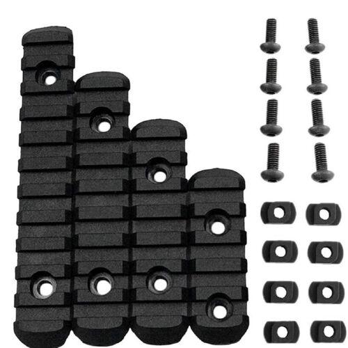 4X Black RIS Polymer Polymer Rail Section Set for M-LOCK PTS Handguard YS7