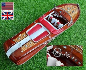 Riva Aquarama Luxury Speed Yacht Model Wooden Collection 21''