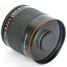 Black 500mm f/6.3 Tele Lens For Nikon D90 D80 D810 D750 D7200 D5500 D5300 D3300