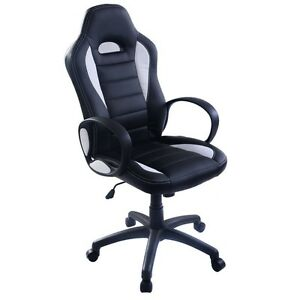 New PU Leather High Back Executive Race Car Style Bucket Seat Office Desk Chair
