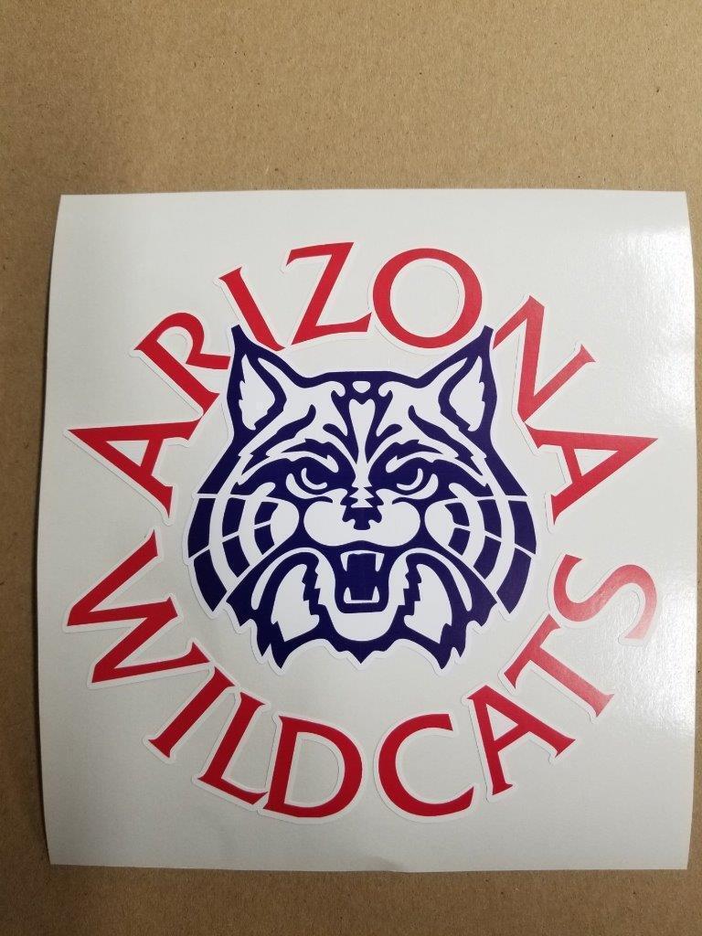 Arizona Wildcats cornhole board or vehicle decal(s) NCAA AW3