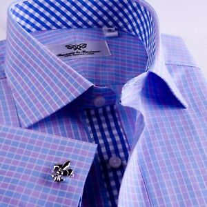 Men-039-s-Blue-Formal-amp-Business-Dress-Shirt-B2B-Shirts-Promotional-Clearance-Sale