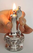 """Vintage Silverplate Ronson """"Decanter""""  Table Lighter in Working Condition"""