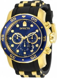Invicta-Men-039-s-30763-Pro-Diver-Quartz-3-Hand-Blue-Dial-Watch