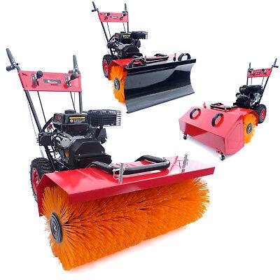 Benzin Kehrmaschine Schneefräse KW250E Elektrostarter Schneeräumer