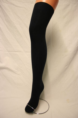 NAVY BLUE COTTON SOFT STRETCHY OVER THE KNEE HIGH SOCKS ADULT SCHOOLGIRL