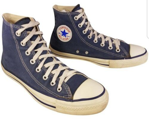 VINTAGE USA MADE CONVERSE HIGH TOP BLUE SNEAKERS S