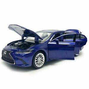Lexus-ES300H-2018-1-32-Die-Cast-Modellauto-Spielzeug-Kinder-Sammlung-Blau