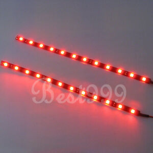 2x red 12 leds 30cm 5050 smd led strip light flexible waterproof image is loading 2x red 12 leds 30cm 5050 smd led aloadofball Gallery