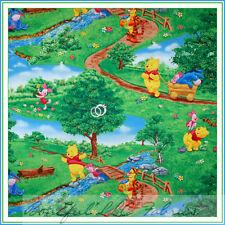 BonEful Fabric FQ Cotton Quilt Disney WINNIE THE POOH Piglet Tigger Eeyore Park