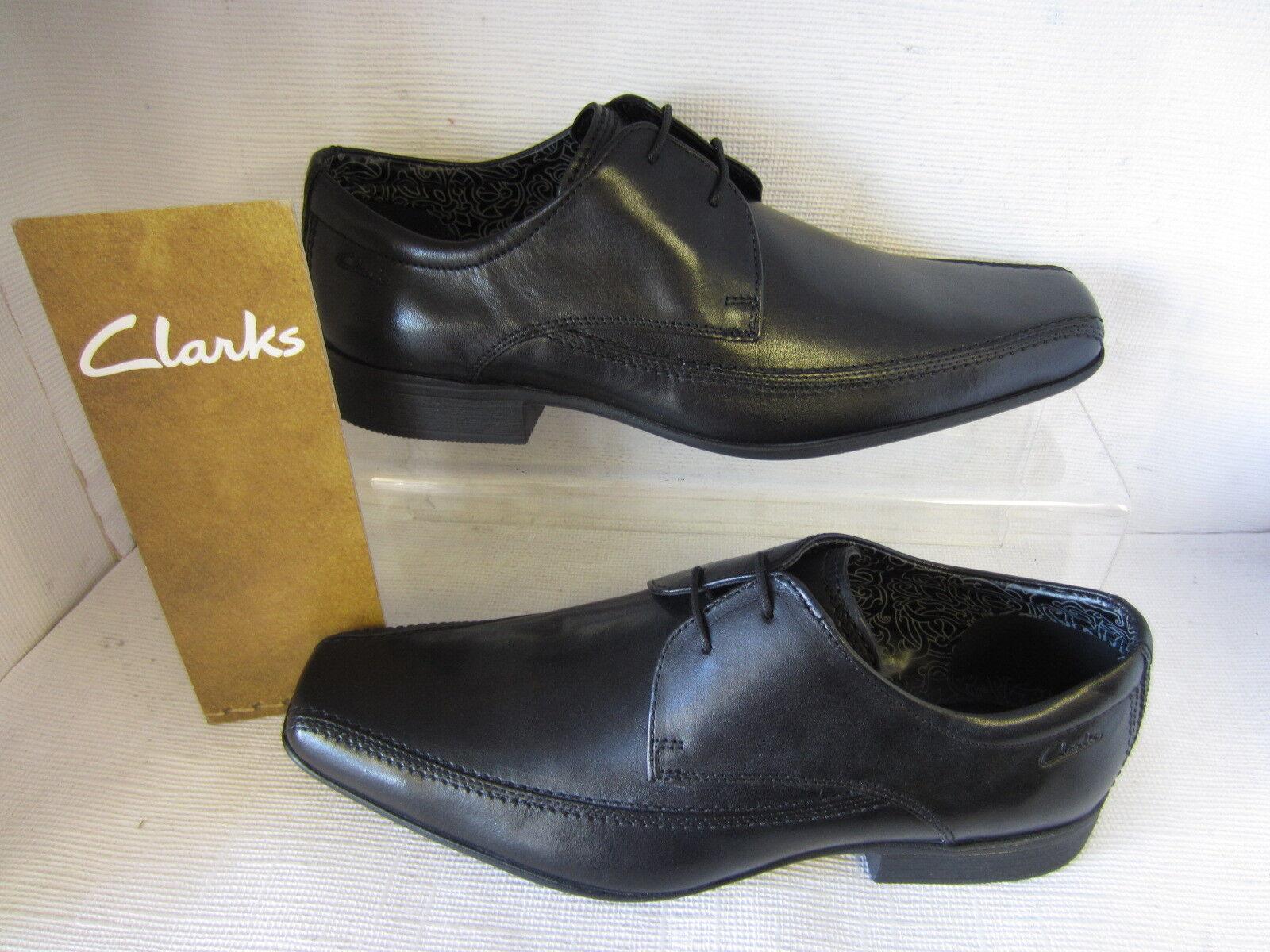 Clarks Hombre Zapatos AZE Día Día Día Cordones Negro Ajuste G / Ancho Cuero Superior 5091d8