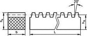 Zahnstangen-C43-Waehlen-Sie-Modul-1-6-Hoehe-mm-amp-Nennlaenge-mm
