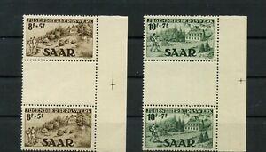 Germany-Saar-Saarland-vintage-yearset-1949-Mi-262-263-Zs-Mint-MNH-4