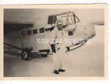 Original Foto deutsches Flugzeug Lastensegler DFS in Wintertarnung  2.WK (B)