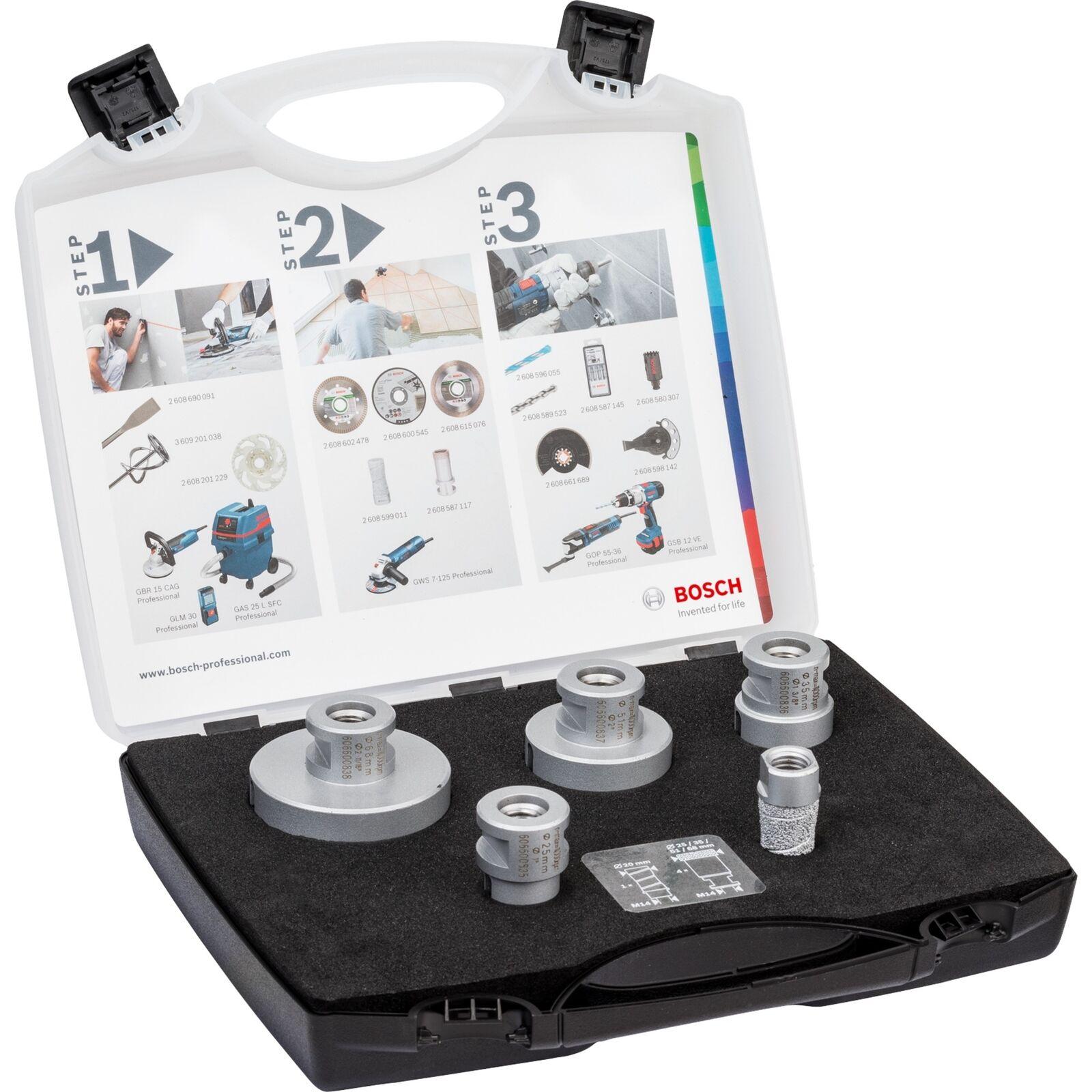 Bosch Professional Fliesenbohrer-Satz DrySpeed   MillingCutter, 5-teilig