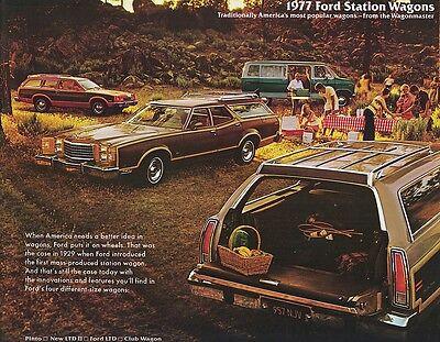 1977 Ford Maverick Original Car Dealer Sales Brochure