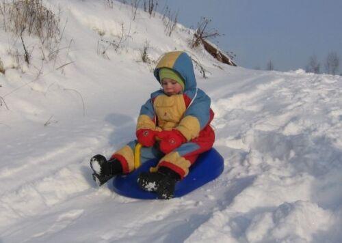 BOB SLITTA TAVOLETTA SNOW RIDER  ADULTO BIMBO NEVE GIOCO - MADE IN GERMANY