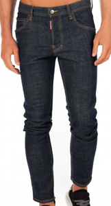 Dsquared2-S74LB0563-S30665-Skater-Jeans-Slim-Blue-470-Mens-New-RRP-439-EH13