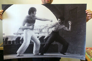 Bruce-Lee-Vs-Chuck-Norris-36-034-x-24-034-Poster-Limited-Edition