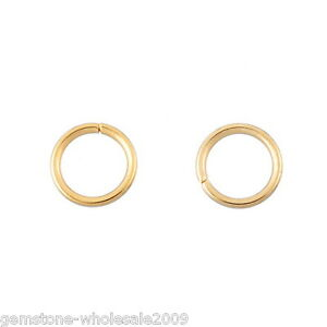 Wholesale W09 Stainless Steel Gold Plated Open Jump Rings 5mm