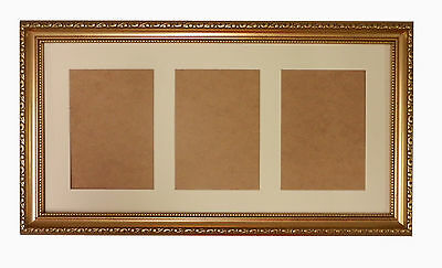 """Takes 3-7/"""" x 5/"""" Photos with Glass 20x10 MATT BLACK WOOD PICTURE PHOTO FRAME"""