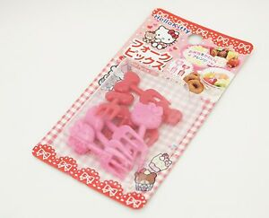Hello-Kitty-Food-Fork-Picks-8pcs-Sanrio-Kawaii-Free-Shipping