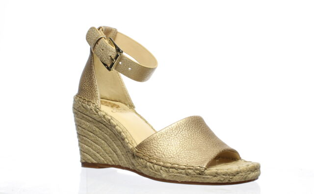 Vince Camuto Womens Leera Metal Gold Espadrilles Size 7 (737456)