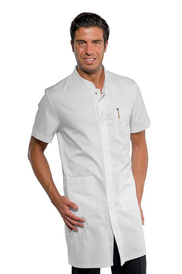 SHIRTS DENTIST DOVER MAN WHITE SHORT SLEEVE COTTON BLEND ISACCO DENTIST COAT