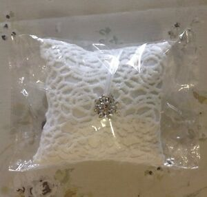 Ring Pillow Satin Wedding Ring Pillow Ring Bearer Square Cushion Gift New - <span itemprop='availableAtOrFrom'>Hornchurch, London, United Kingdom</span> - Ring Pillow Satin Wedding Ring Pillow Ring Bearer Square Cushion Gift New - Hornchurch, London, United Kingdom