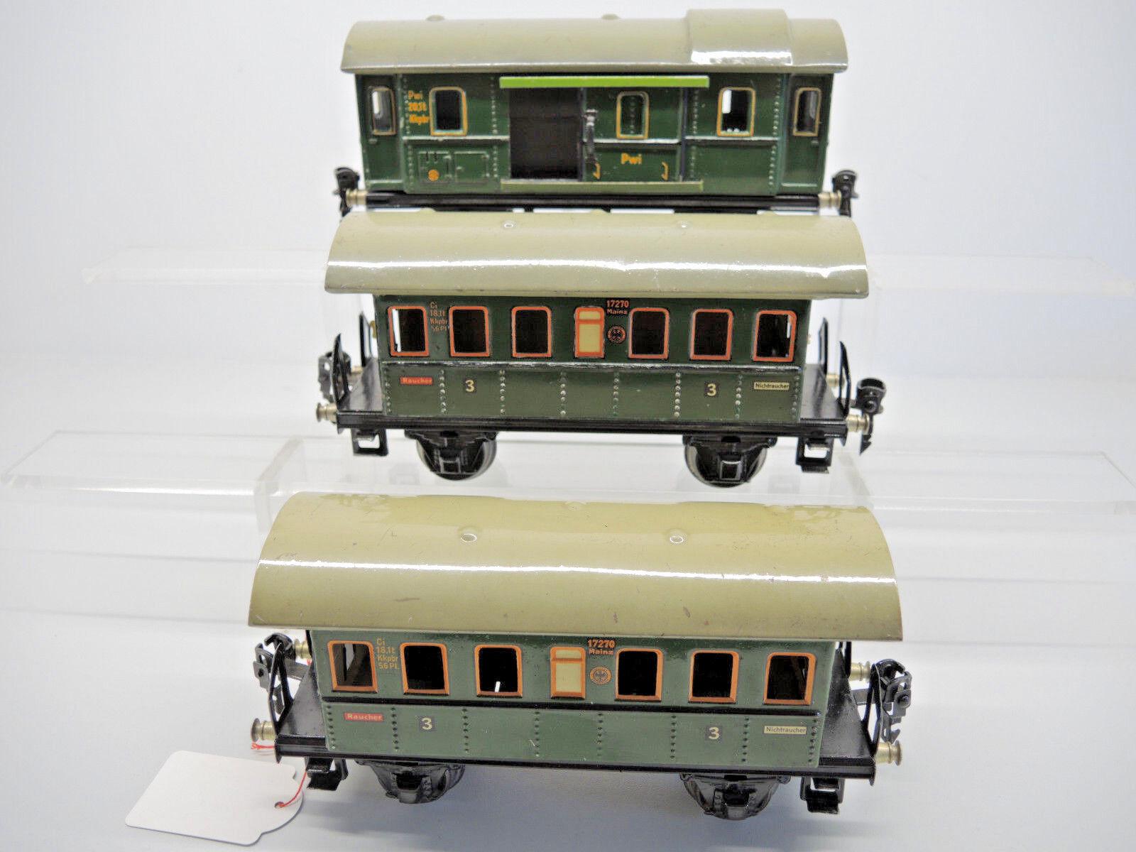 2 x 1727/0, vagoni, 1 x 1728/0, carrello Borsaagli, senza imballaggio originale