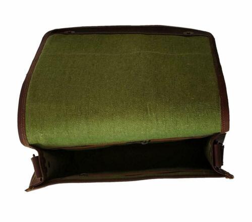 """18/"""" Men/'s Distressed Vintage Leather Flap Messenger Laptop Satchel Shoulder Bag"""