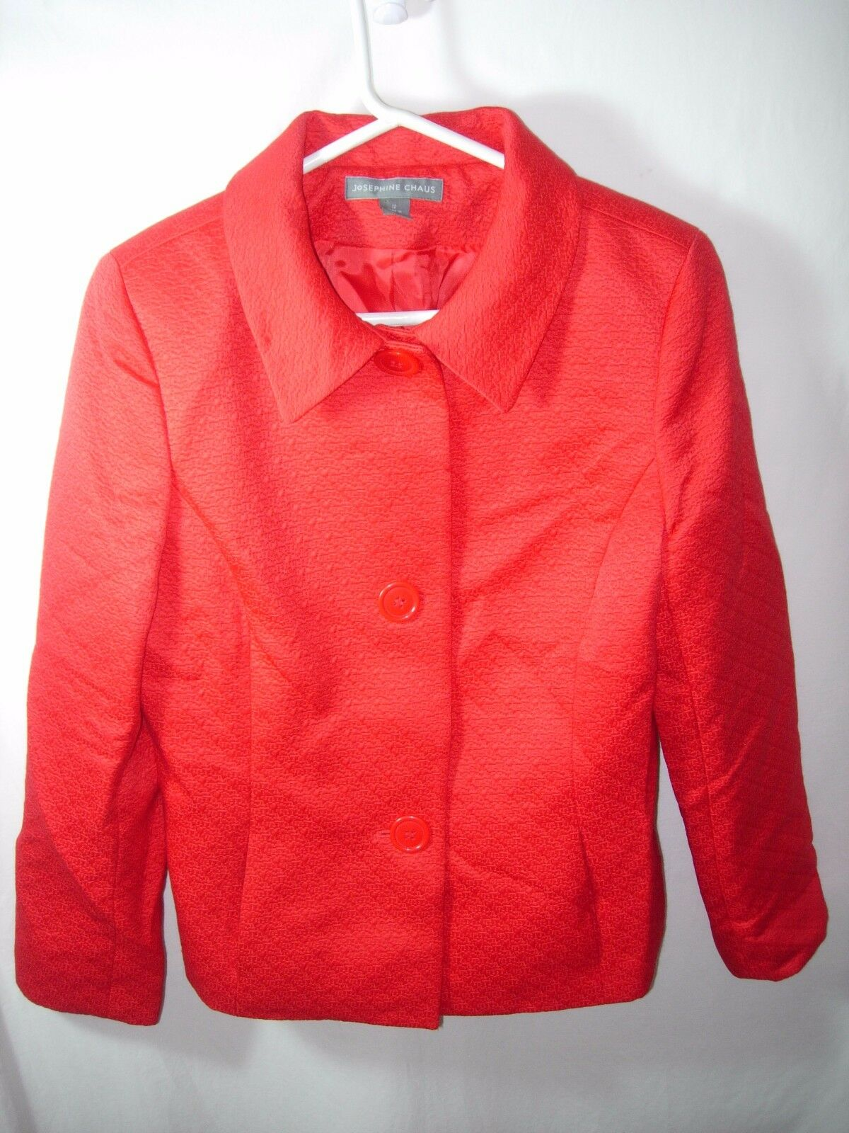 WOMENS RED JOSEPHINE CHAUS MOTHER OF THE BRIDE SUIT JACKET BLAZER SIZE 12 42
